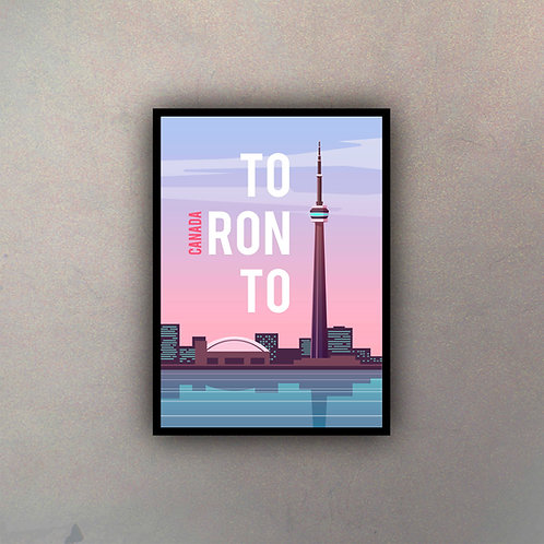 Afiche Vintage Toronto