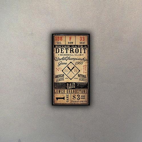 Ticket Antiguo Baseball