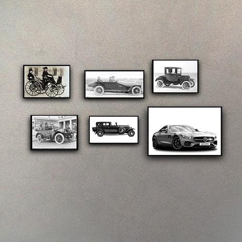 "Combo ""Evolution"" Automóvil (6 Cuadros)"