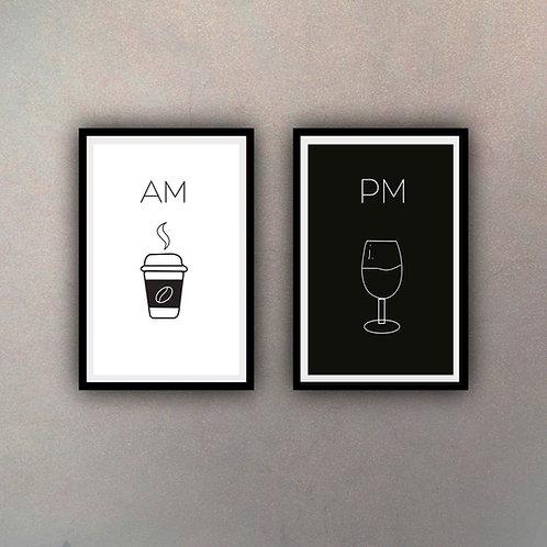 Set AM & PM (2 Cuadros)