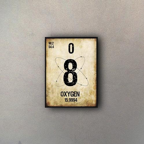 Elemento Tabla Oxígeno