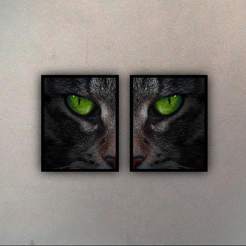 Díptico Gato (2 Cuadros)