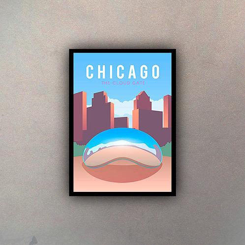 Afiche Vintage Chicago