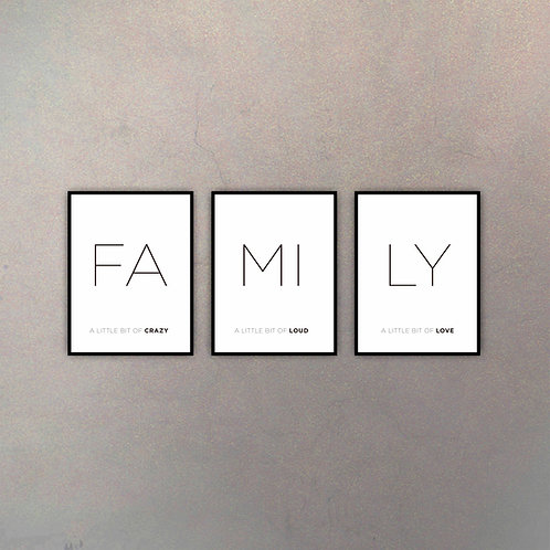 Set Family (3 Cuadros)