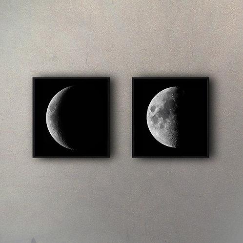 Set Fases Luna II (2 Cuadros)