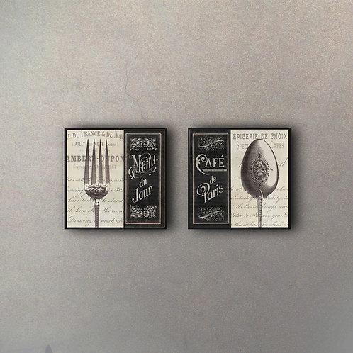 Set Tenedor & Cuchara (2 Cuadros)
