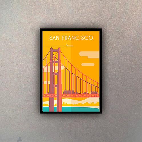 Afiche Vintage San Francisco