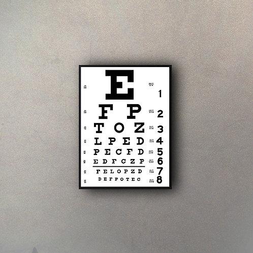 Tabla Visual Oculista