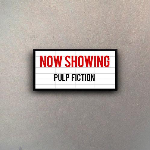 "Cartel Marquesina Cine ""Pulp Fiction"""