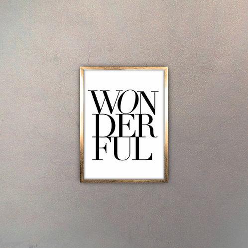 "Tipografía ""Wonderful"" Gold"