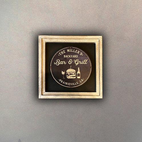 Cuadro Publicidad Vintage Bar & Grill