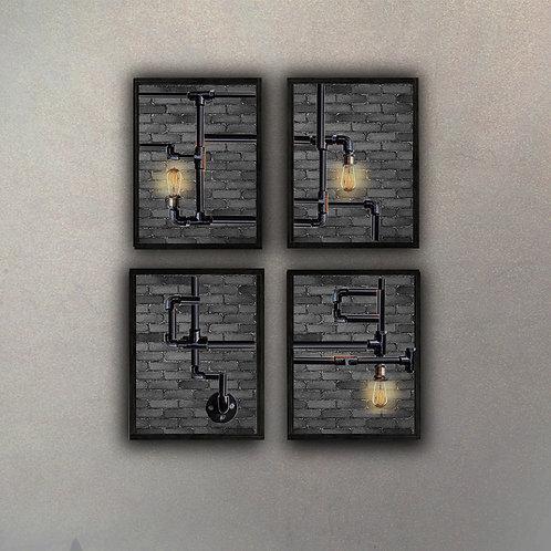 """Set """"Conexiones"""" Estilo Industrial"""