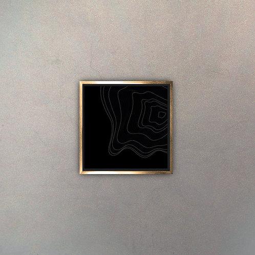 Arte Líneas Abstractas Gold III (Canvas)