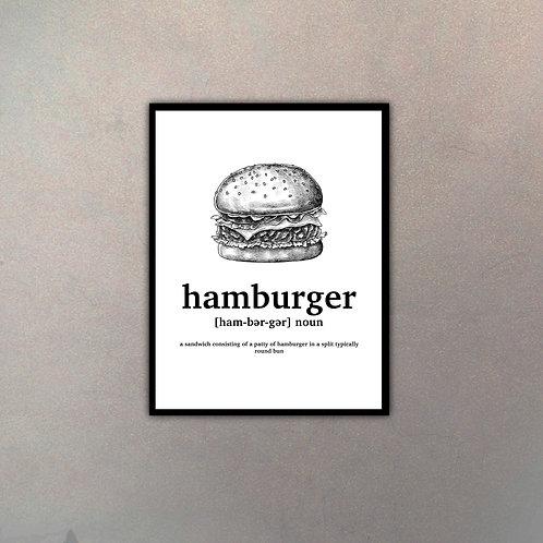 """Objeto Vintage Definición """"Hamburger"""""""