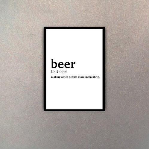 """""""Beer"""" Definición Diccionario"""