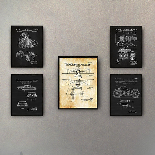"Combo Colección ""Inventos"" (5 Cuadros)"