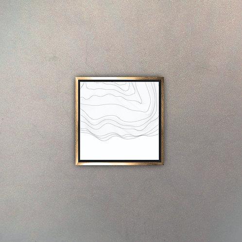 Arte Líneas Abstractas Gold II (Canvas)