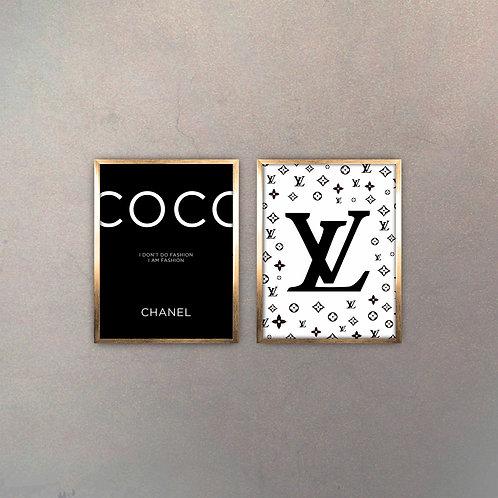 Set Brands II (2 Cuadros) Gold
