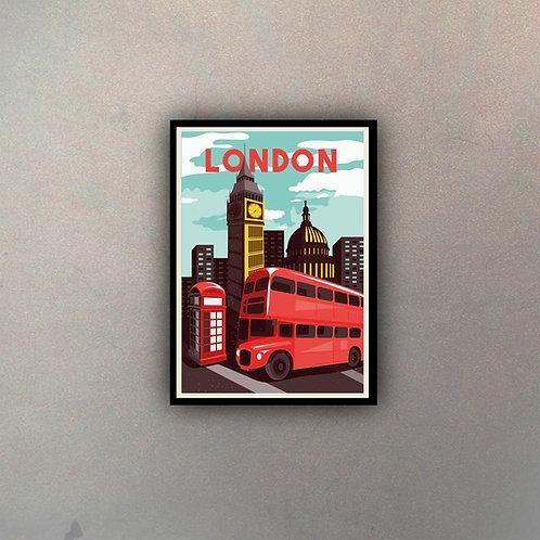 Afiche Vintage London I