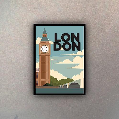 Afiche Vintage London II