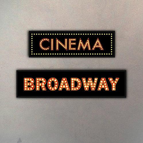 Set Cinema & Broadway (2 Cuadros)