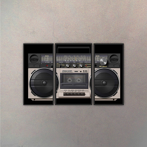 Tríptico Radio Vintage I (3 Cuadros)