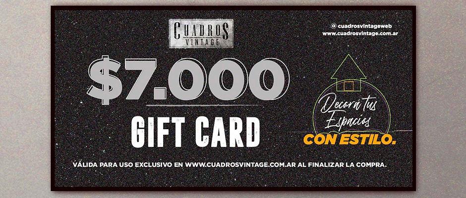 $7.000 Gift Card