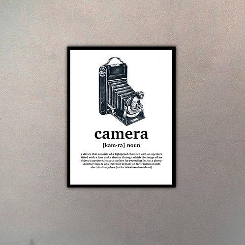 """Objeto Vintage Definición """"Camera"""""""