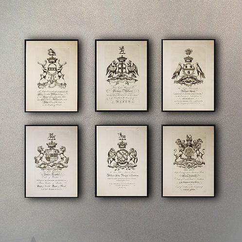 Set Escudos (6 Cuadros)