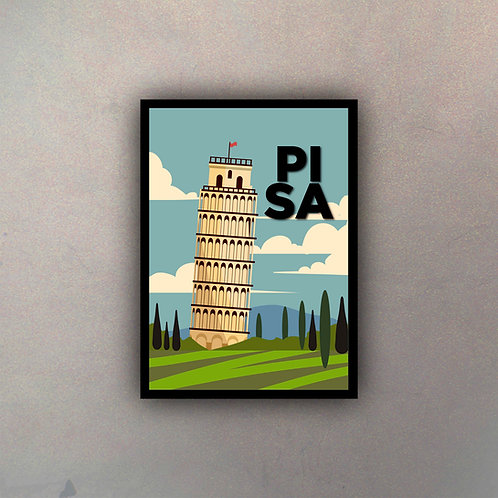 Afiche Vintage Pisa