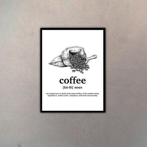 """Objeto Vintage Definición """"Coffee"""""""