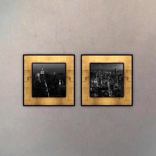 Set Placas New York Night Gold