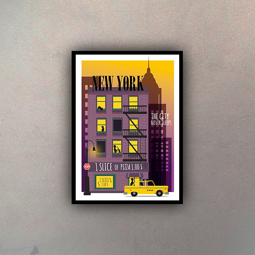 Afiche Vintage New York III
