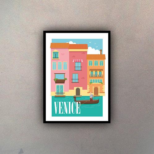 Afiche Vintage Venice II