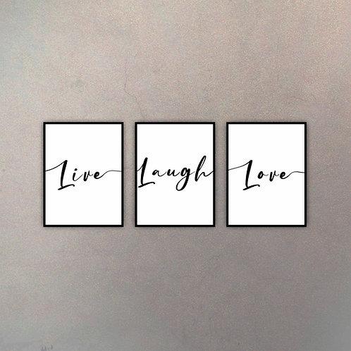 Live, Laugh, Love (3 Cuadros)