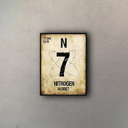 Elemento Tabla Nitrógeno III