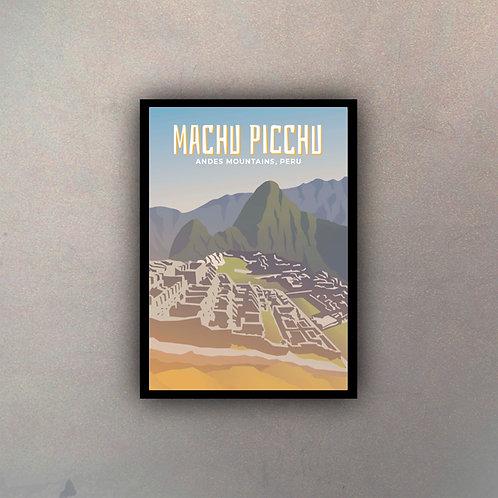 Afiche Vintage Machu Picchu