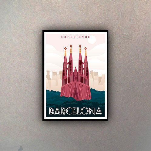 Afiche Vintage Barcelona