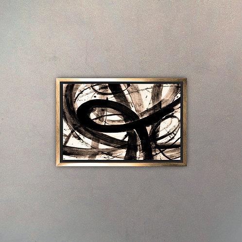 Arte Abstracto Gold I (Canvas)