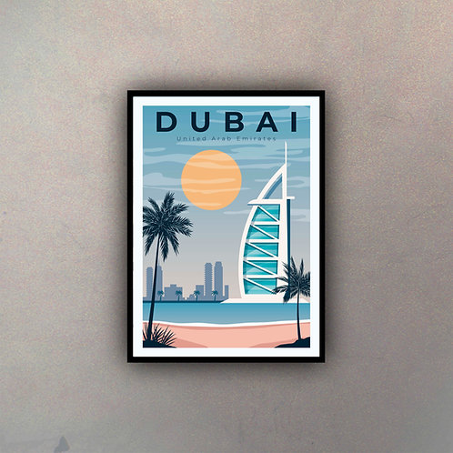 Afiche Vintage Dubai