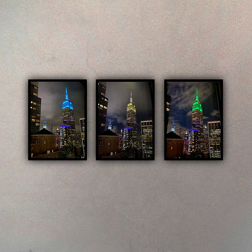 Set Empire State Colors (3 Cuadros)