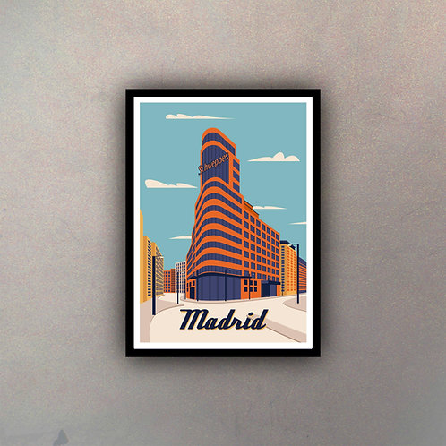 Afiche Vintage Madrid