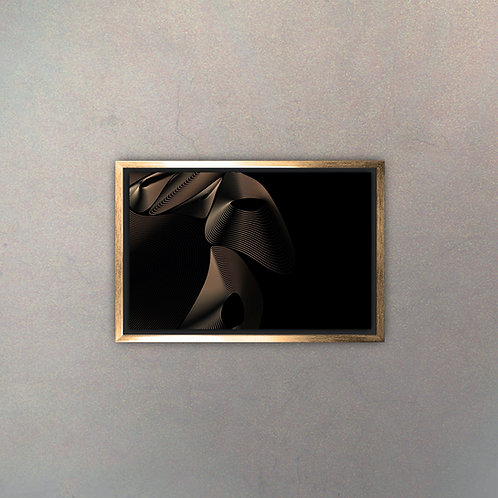 Arte Abstracto Gold II (Canvas)