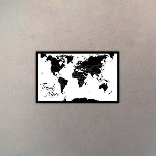 Mapa del Mundo White Travel More