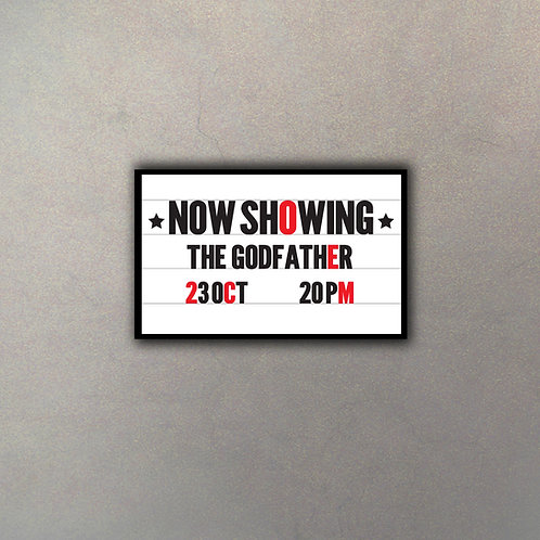 "Cartel Marquesina Cine ""The Godfather"""
