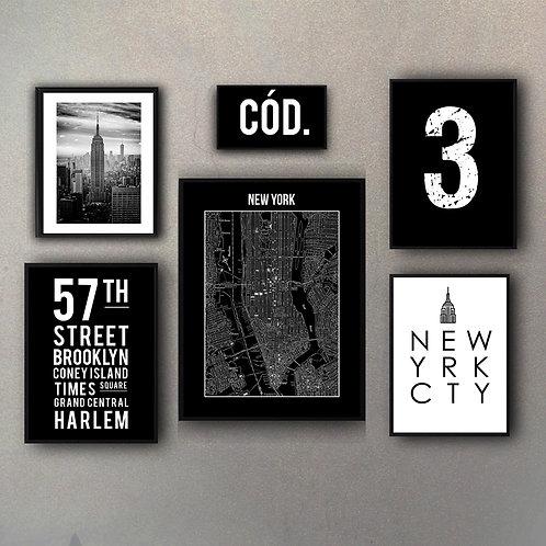Combo Mix Colecciones New York (6 Cuadros)