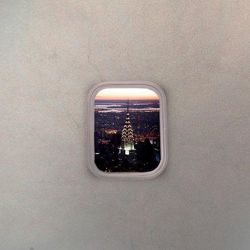 Ventanilla Avión New York