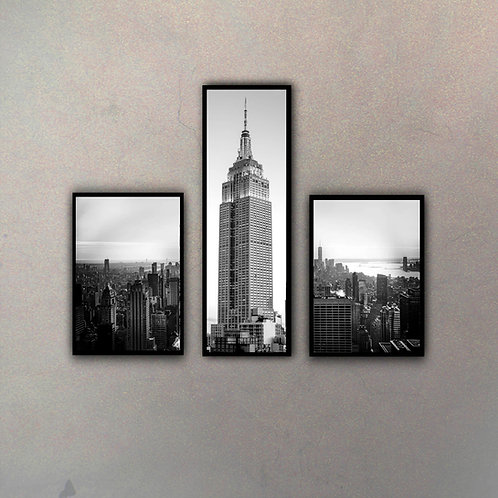 Set Empire State & Vistas Áereas (3 Cuadros)