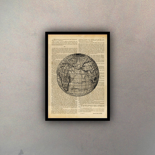 Mapamundi Fondo Vintage