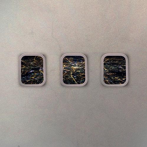 Set Ventanillas Avión Moscú (3 Cuadros)